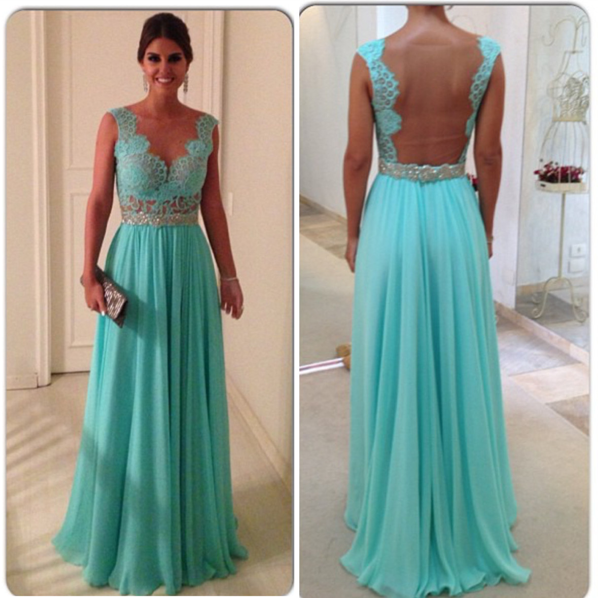 Turquoise Blue Prom Dress,cap Sleeves Prom Dress,elegant Bridesmaid ...