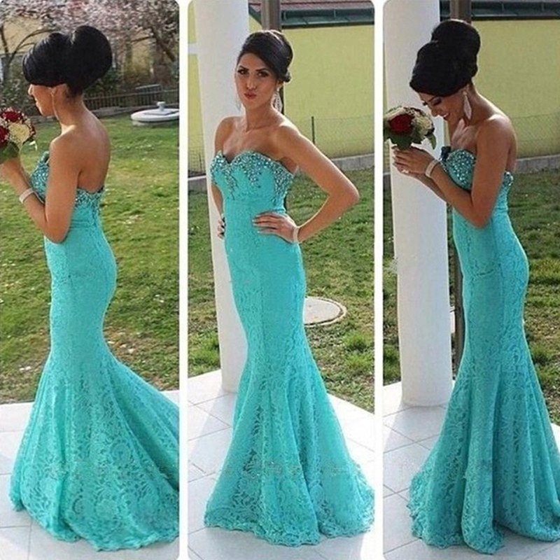 Turquoise Vintage Prom Dress