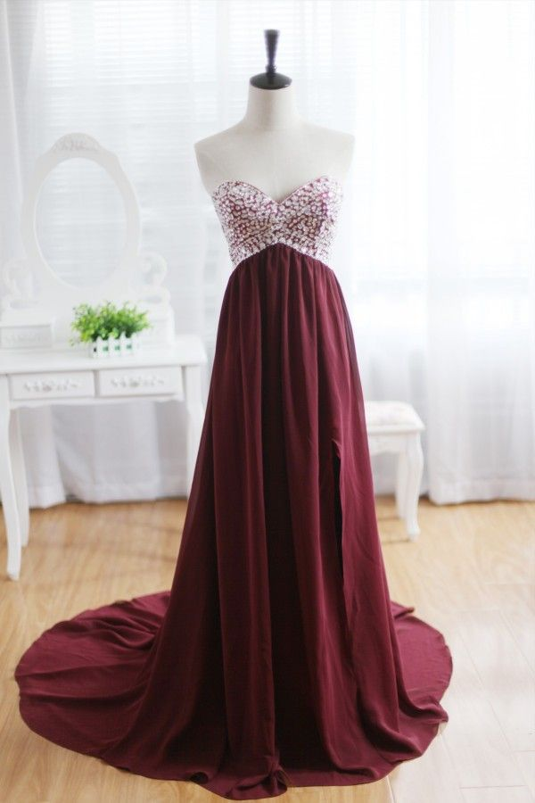 Burgundy Prom Dresses Tumblr